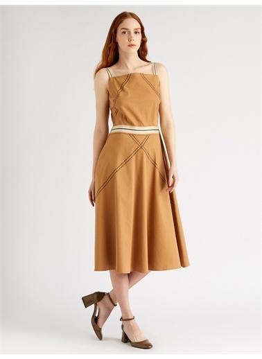 Vekem-Limited Edition Elbise Hardal